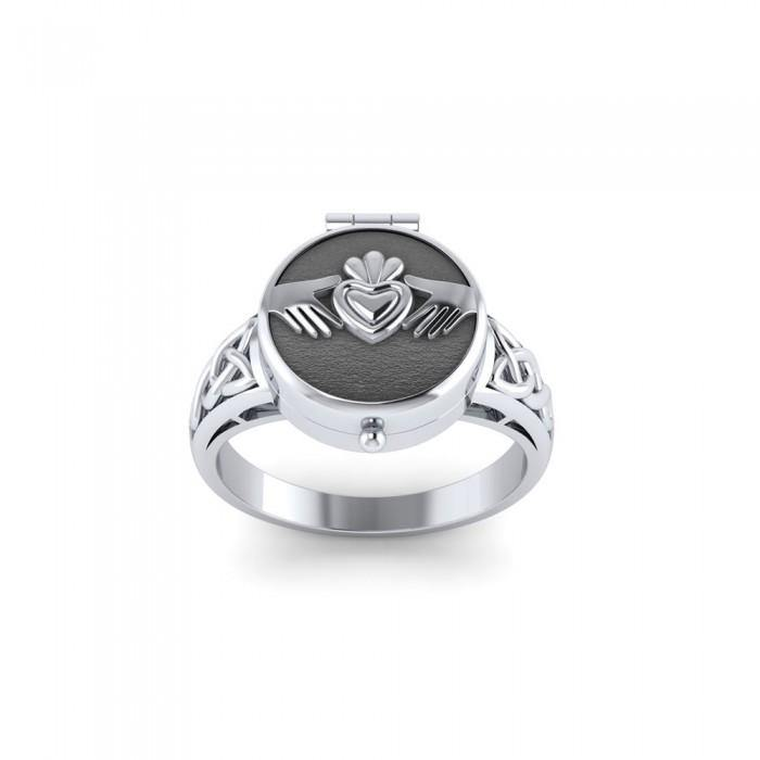 Celtic Knot Claddagh Poison Ring TR1355