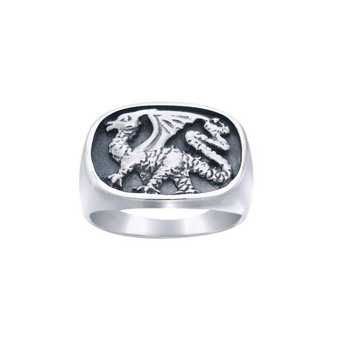 Dragon Signet Ring TR1399 peterstone.
