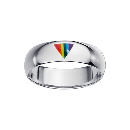 Rainbow Triangle Band Ring TR1422 peterstone.