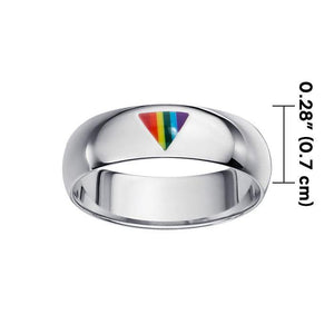Rainbow Triangle Band Ring TR1422