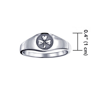 Celtic Shamrock Ring TR1443 peterstone.