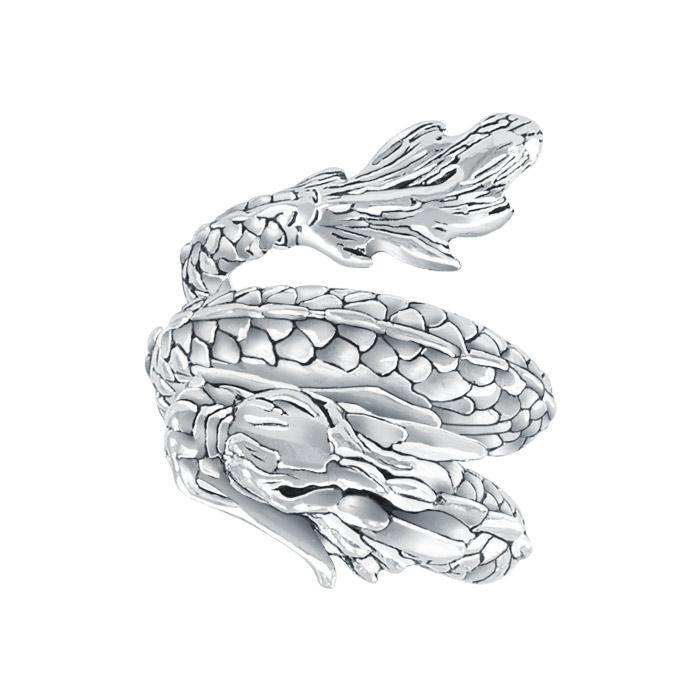Coiled Eastern Dragon Ring