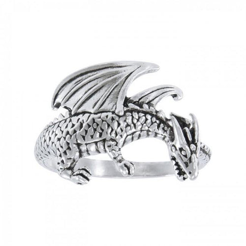 Winged Dragon Silver Ring TR1599 peterstone.