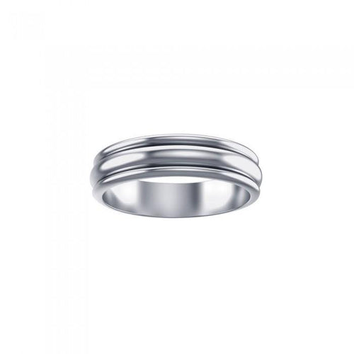 Silver Wedding Spinner Band Ring TR1660 peterstone.