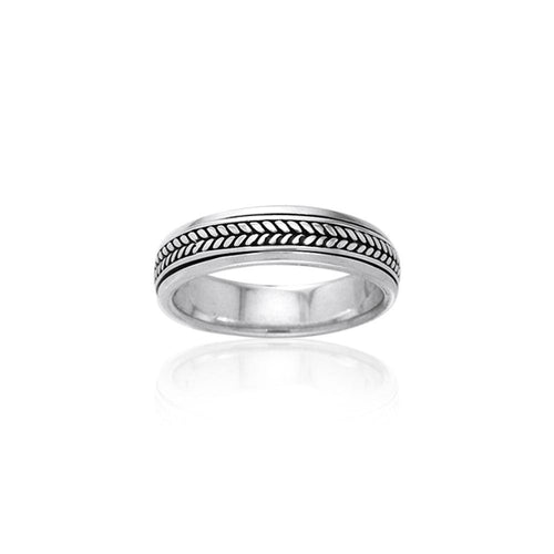 Braided Silver Spinner Ring TR1662 peterstone.