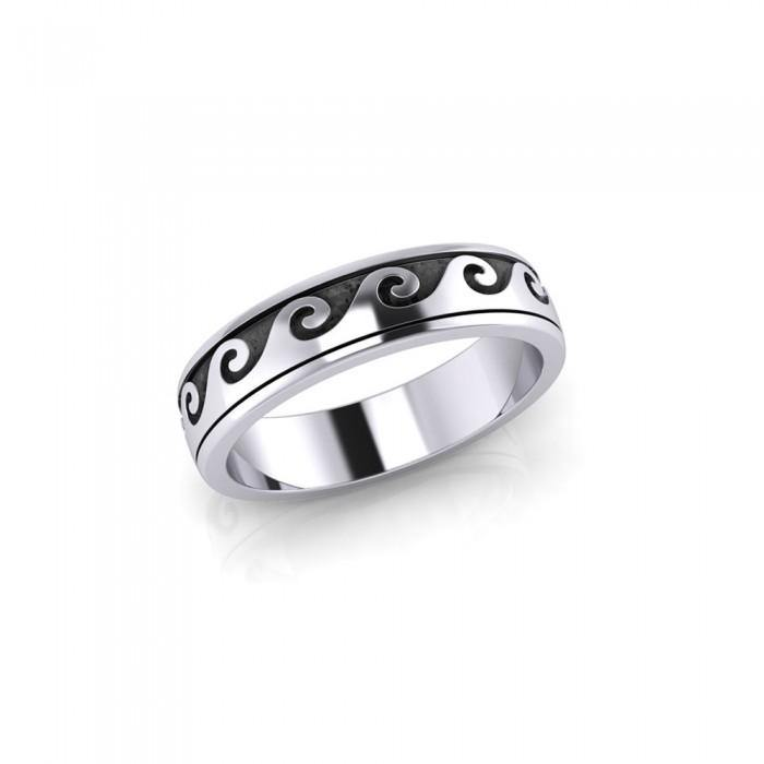 Wave Curl Spinner Ring TR1674