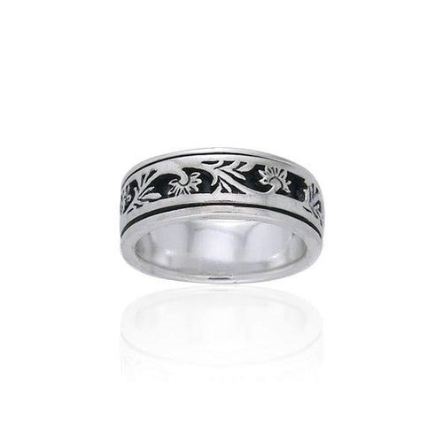 Silver Flower Ring TR1690 peterstone.