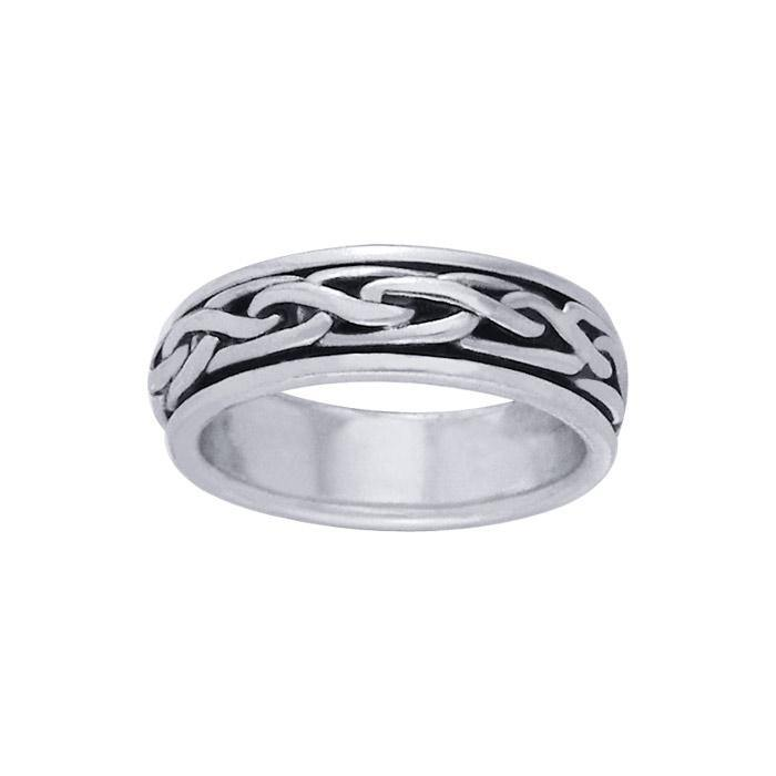 Celtic Knotwork Spinner Ring TR1693 peterstone.