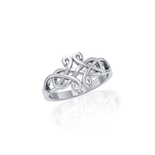 Celtic Knotwork Silver Ring TR1752 peterstone.