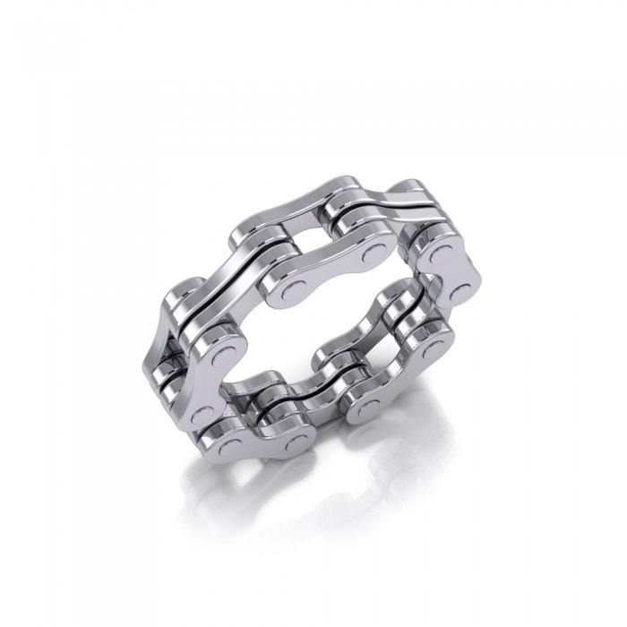 Bike Chain Silver Ring TR183