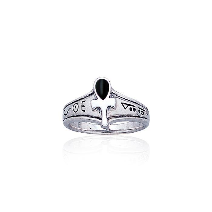 Ankh Sterling Silver Ring TR1878 peterstone.