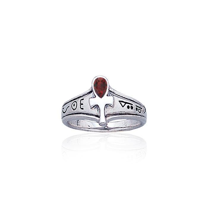 Ankh Sterling Silver Ring TR1878