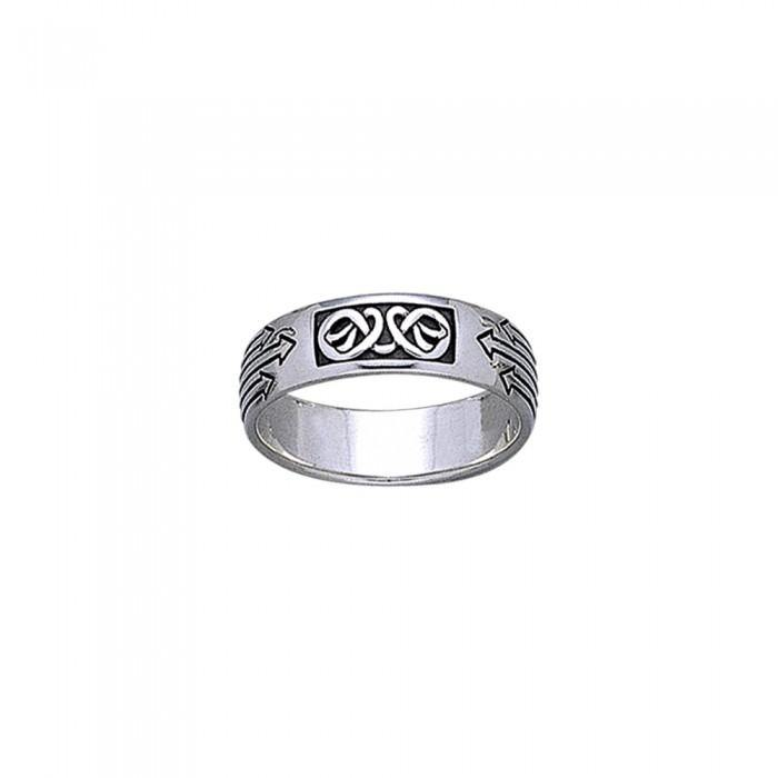 Celtic Knotwork Silver Ring TR1896