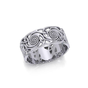 Celtic Silver Spiral Ring TR264 peterstone.