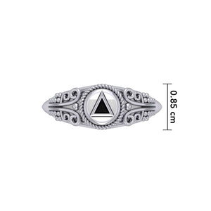 Celtic AA Symbol Silver Ring TR288 peterstone.