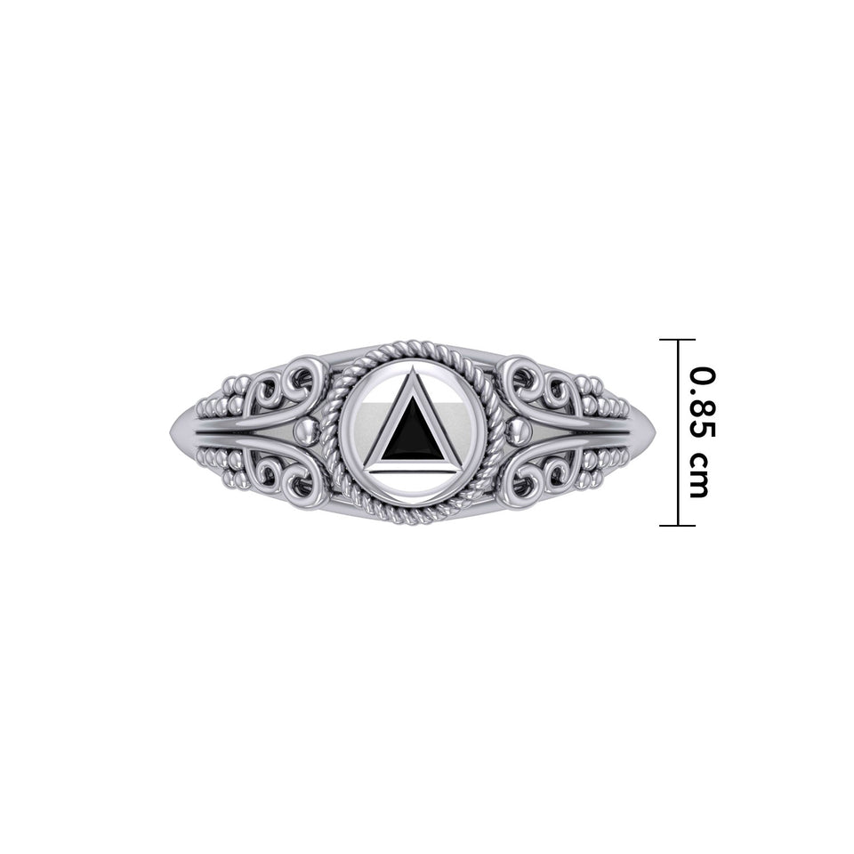 Celtic AA Symbol Silver Ring TR288
