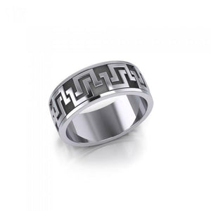 Geometric Knotwork Silver Ring TR308