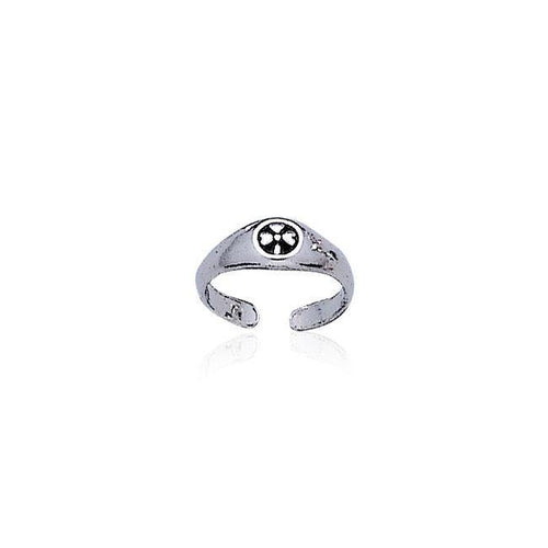 Celtic Shamrock Silver Toe Ring TR3306