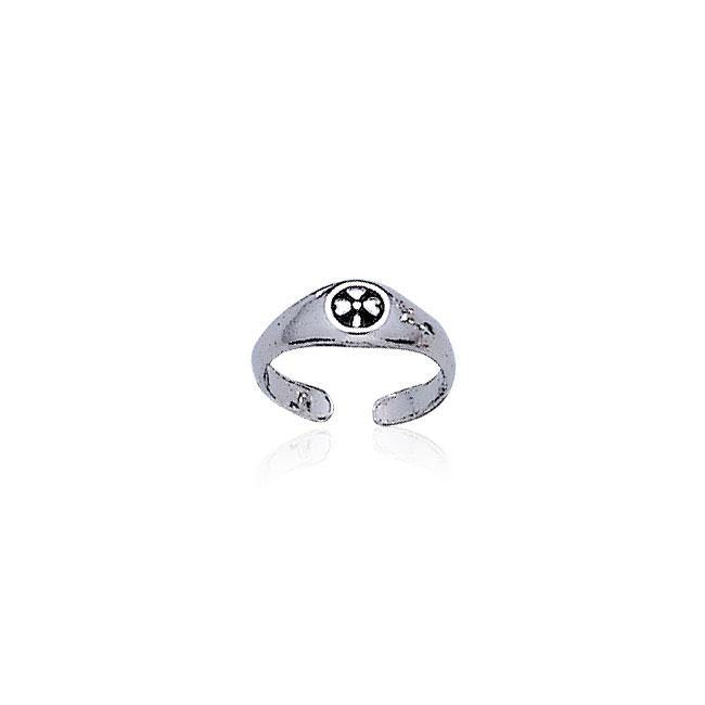 Celtic Shamrock Silver Toe Ring TR3306 peterstone.