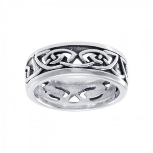 Celtic Knotwork Silver Ring TR3411