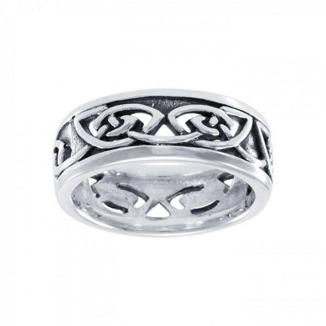 Celtic Knotwork Silver Ring