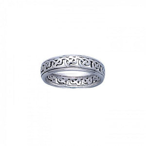 Celtic Knotwork Silver Ring TR3450 peterstone.