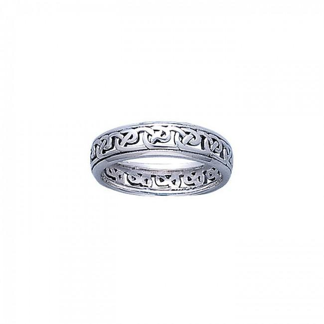 Celtic Knotwork Silver Ring TR3450