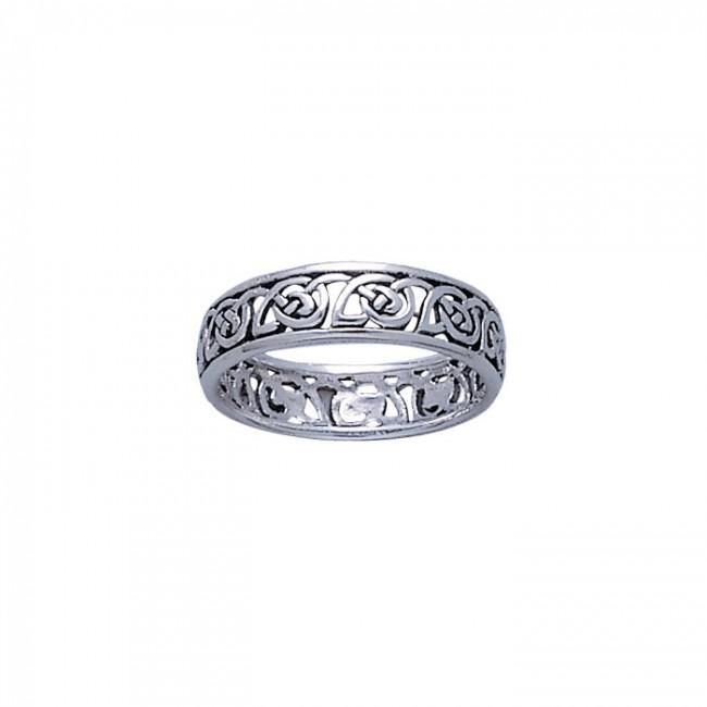 Celtic Knotwork Silver Ring TR3453