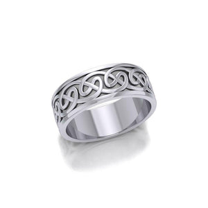 A Never-ending artwork ~ Sterling Silver Celtic Knotwork Ring TR354 peterstone.