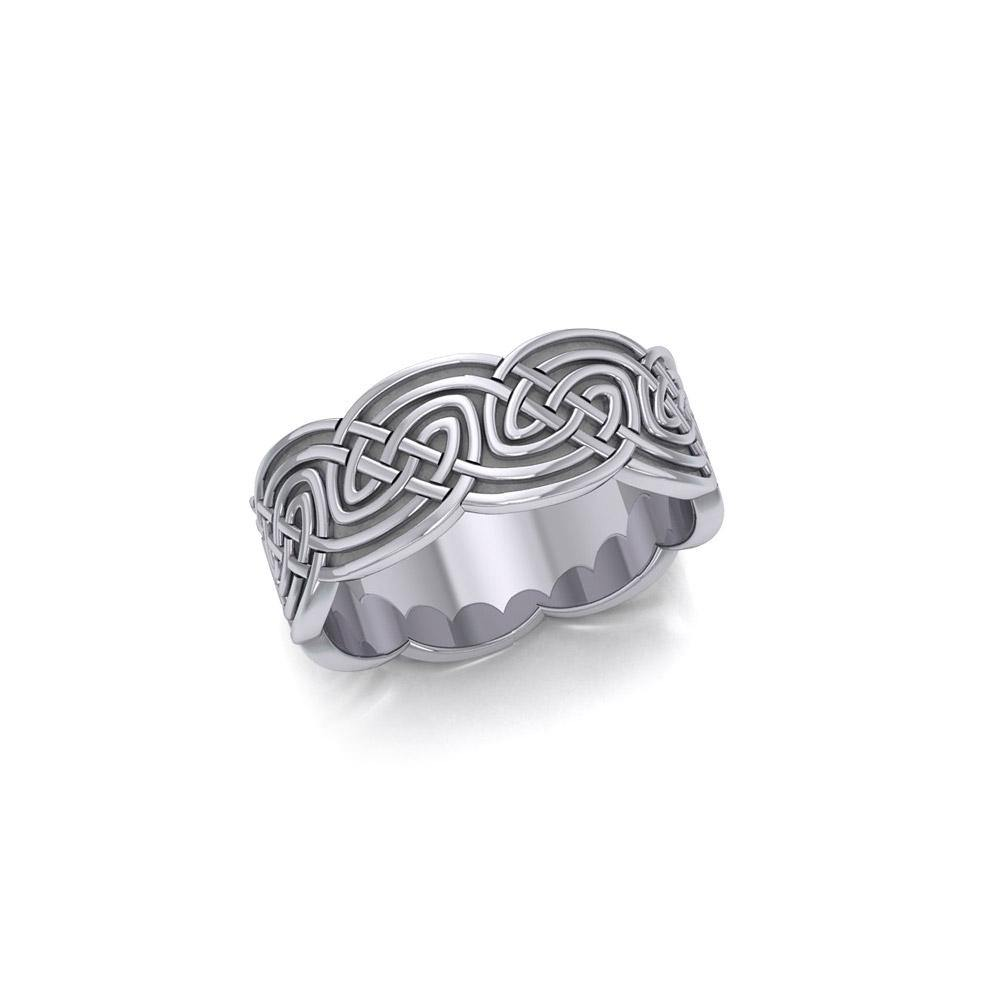Celtic Knotwork Silver Ring TR359 peterstone.