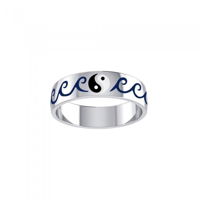 Yin Yang Waves Ring TR3606