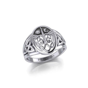 Tree of life Silver Ring TR3688 peterstone.