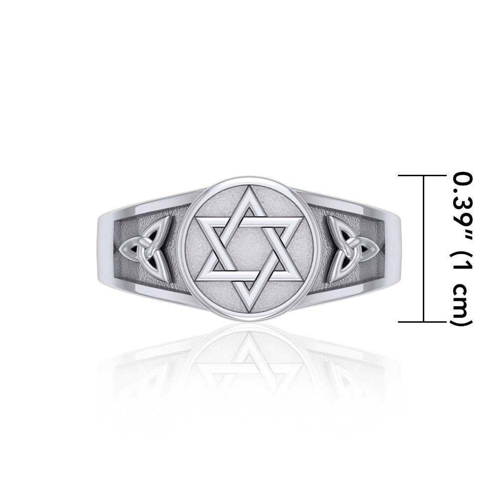 Celtic Knot with Star of David Ring TR3691