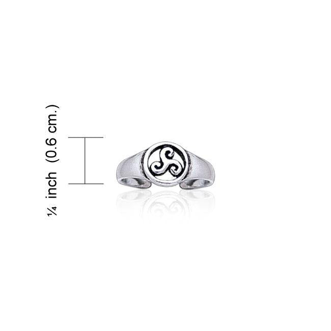 Celtic Silver Spiral Toe Ring TR3721
