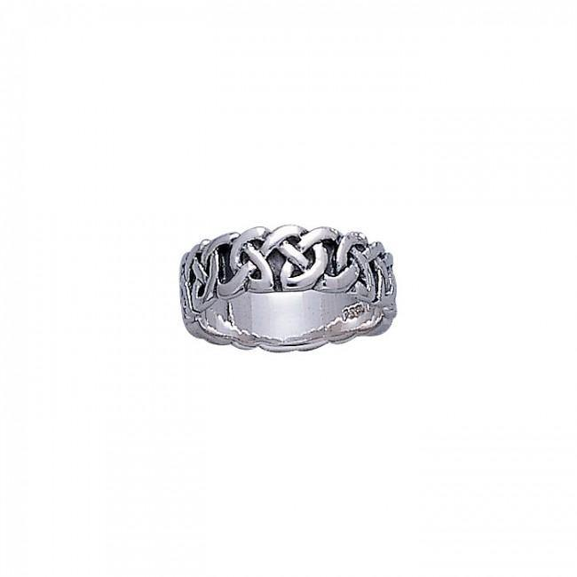 Celtic Knotwork Silver Ring TR373 peterstone.