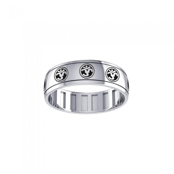 Spinner Ring Om Symbols TR3749 peterstone.