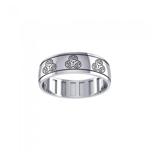 Dragon Triskele Spinner Ring TR3782 peterstone.