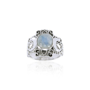 Blue Moon Silver Ring TR3785 peterstone.