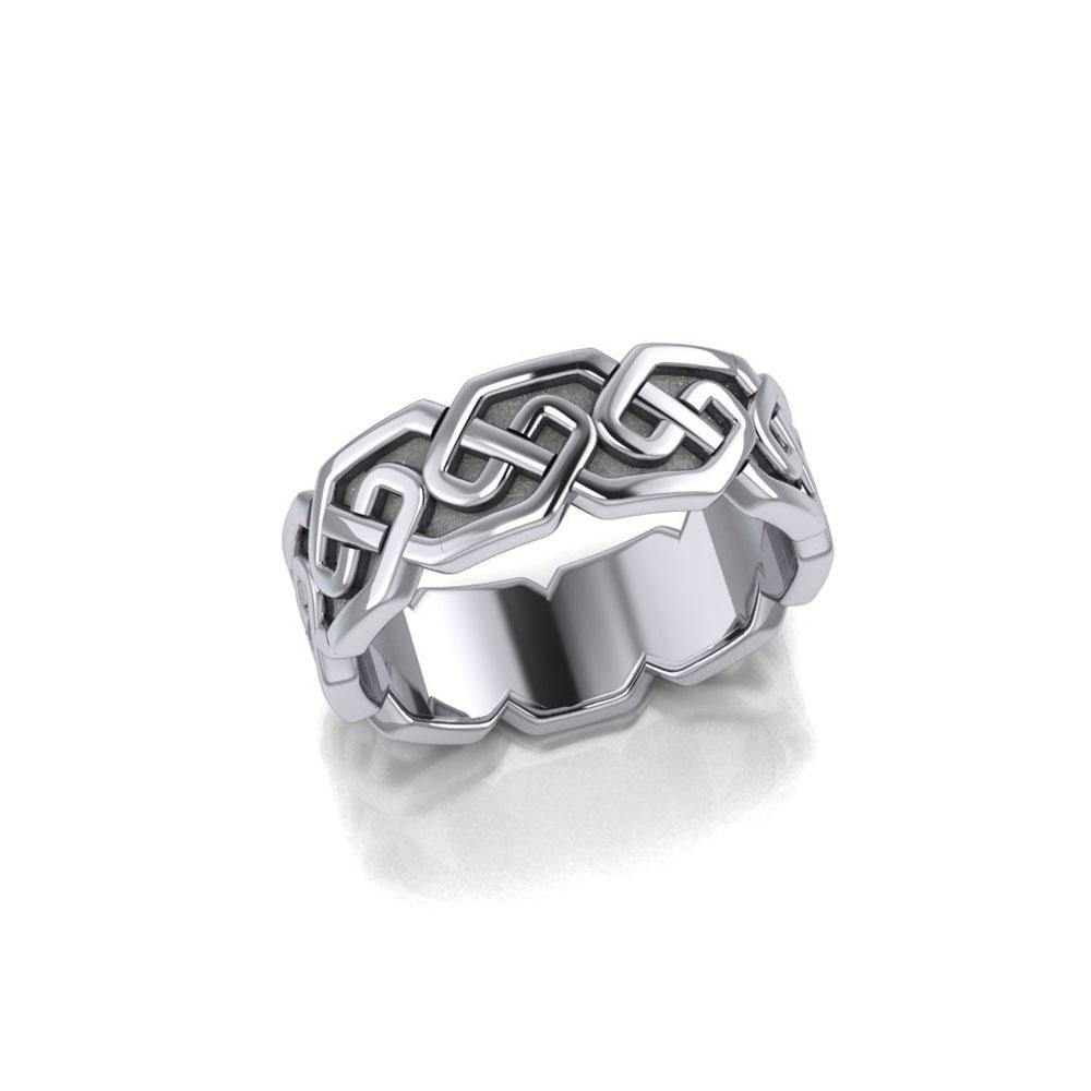 Celtic Knotwork Silver Ring TR380