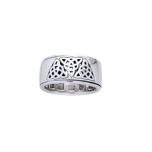 Triquetra Silver Spinner Ring TR3816 peterstone.