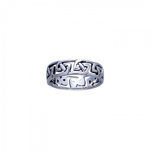Celtic Knotwork Silver Ring TR397