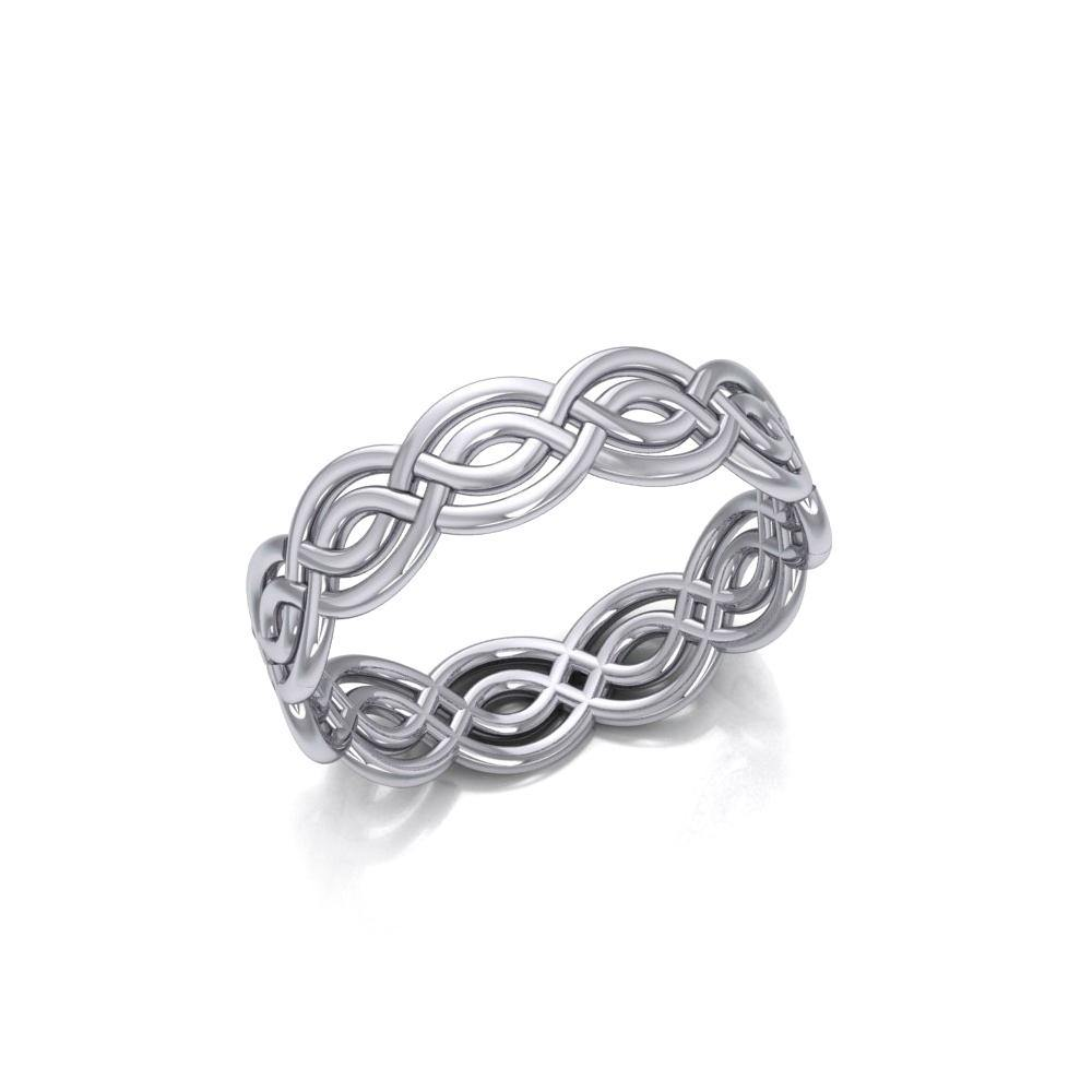 Celtic Knotwork Silver Ring TR399