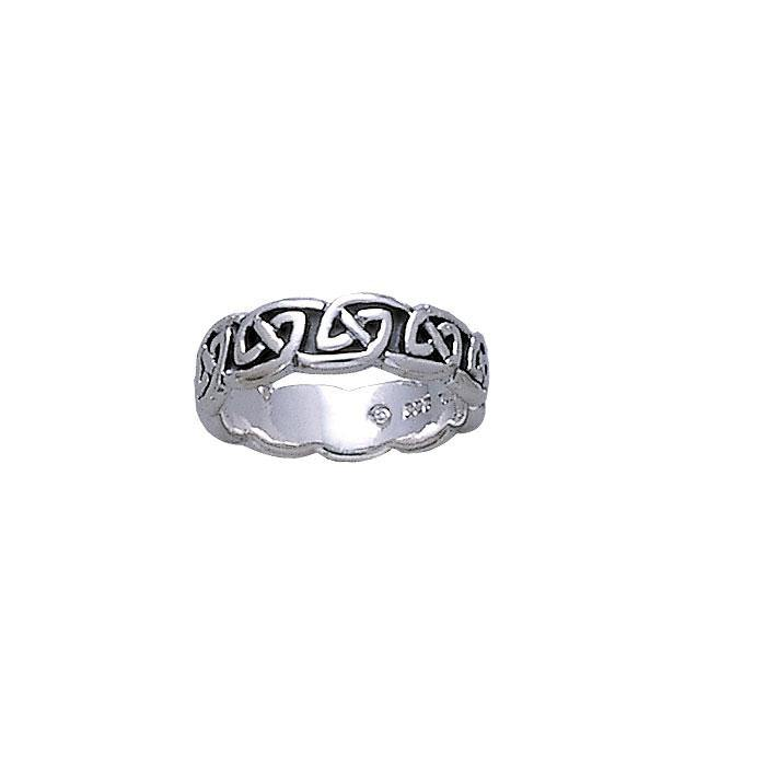Celtic Knotwork Silver Ring TR431