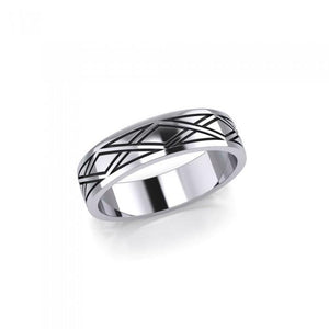Weave Design Silver Ring TR568 peterstone.