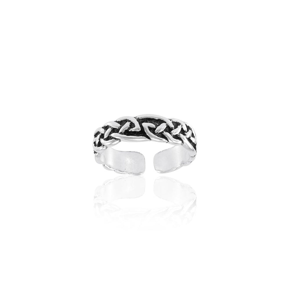 Celtic Knotwork Sterling Silver Toe Ring TR604