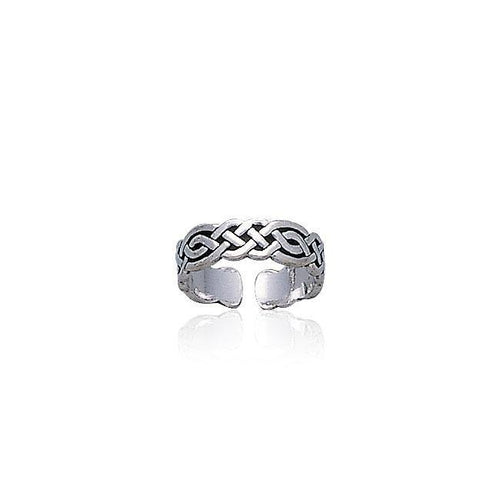 Celtic Knotwork Sterling Silver Toe Ring TR606