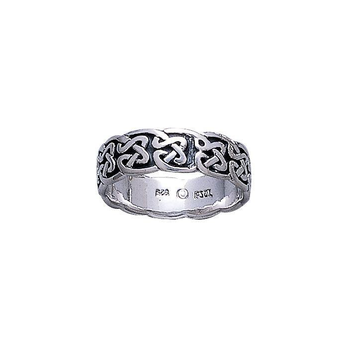 Celtic Knotwork Silver Ring TR625