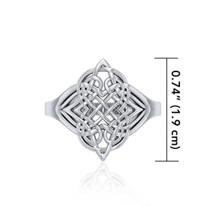 Celtic Knotwork Silver Ring TR659 Ring