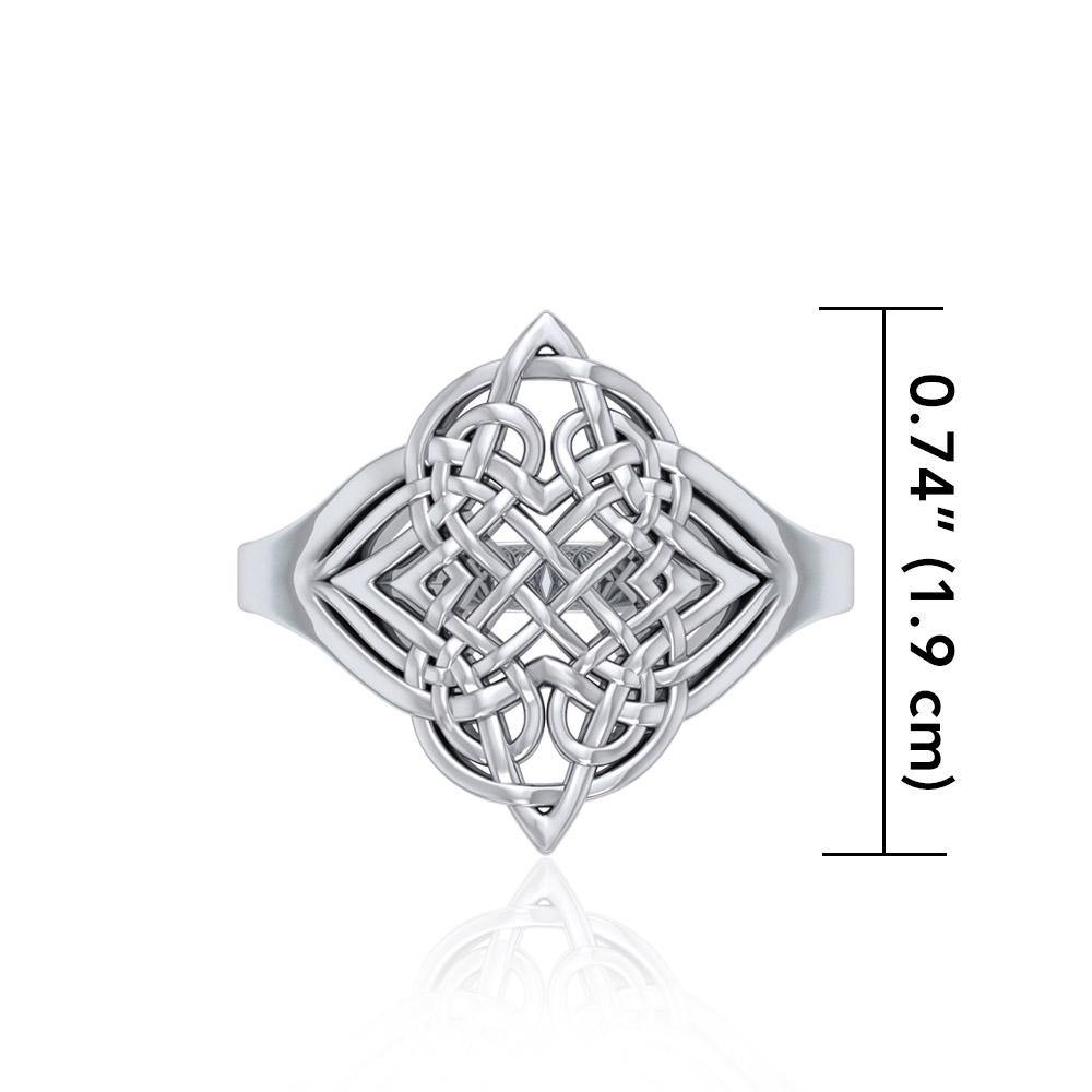 Celtic Knotwork Silver Ring TR659