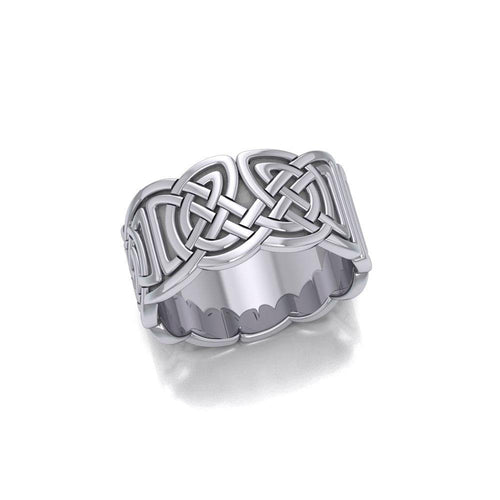 Celtic Knotwork Silver Ring TR661